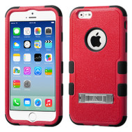 Military Grade Certified TUFF Hybrid Kickstand Case for iPhone 6 / 6S - Red