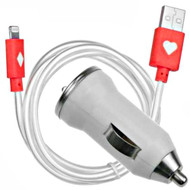 *WEEKLY SPECIAL* High Performance Mini Car Charger with Neon Lightning USB Cable - Red