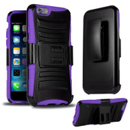 *SALE* Advanced Armor Hybrid Kickstand Case with Holster for iPhone 6 Plus / 6S Plus - Black Purple