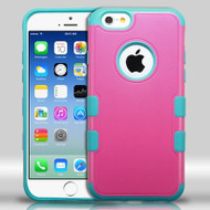 Military Grade Certified TUFF Merge Hybrid Case for iPhone 6 / 6S - Hot Pink Teal