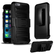 *SALE* Advanced Armor Hybrid Kickstand Case with Holster for iPhone 6 Plus / 6S Plus - Black
