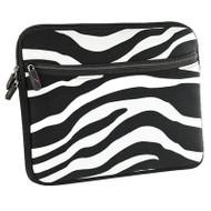 Designer Neoprene Protective Pouch Cover - Zebra Black