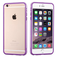 Hybrid Bumper Case for iPhone 6 Plus / 6S Plus - Purple Clear