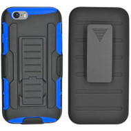 *SALE* Robust Armor Stand Protector Cover with Holster for iPhone 6 / 6S - Black Blue
