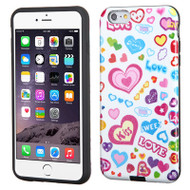 Dual Layer Hybrid Case for iPhone 6 Plus / 6S Plus - Love Glittering