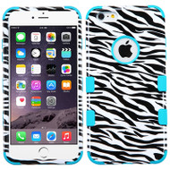 Military Grade Certified TUFF Image Hybrid Case for iPhone 6 Plus / 6S Plus - Zebra Teal