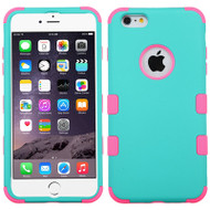 Military Grade Certified TUFF Hybrid Case for iPhone 6 Plus / 6S Plus - Teal Hot Pink