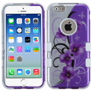 Military Grade TUFF Image Hybrid Case for iPhone 6 / 6S - Twilight Petunias