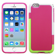 Multi-Color Perforated TPU Case for iPhone 6 / 6S - Hot Pink