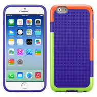 Multi-Color Perforated TPU Case for iPhone 6 / 6S - Purple