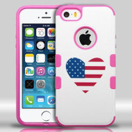 Military Grade Certified TUFF Merge Graphic Hybrid Case for iPhone SE / 5S / 5 - Heart USA