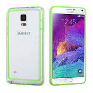 Hybrid Bumper Case for Samsung Galaxy Note 4 - Green Clear