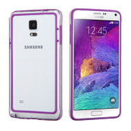 Hybrid Bumper Case for Samsung Galaxy Note 4 - Purple Clear