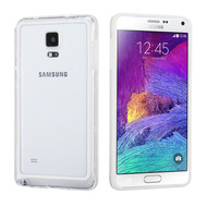 Hybrid Bumper Case for Samsung Galaxy Note 4 - White Clear