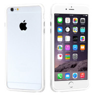 *SALE* Hybrid Bumper Case for iPhone 6 Plus / 6S Plus - White Clear