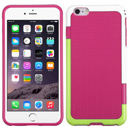 Multi-Color Perforated TPU Case for iPhone 6 Plus / 6S Plus - Hot Pink