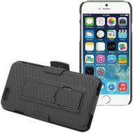 DualStand Shell Case with Holster for iPhone 6 Plus / 6S Plus - Black