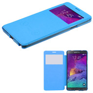 Book-Style Hybrid Case for Samsung Galaxy Note 4 - Blue