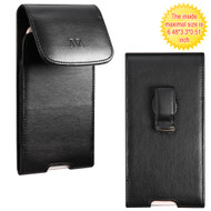 Leather Vertical Hip Case - Black