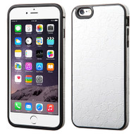 Graphic Rubberized Protective Gel Case for iPhone 6 Plus / 6S Plus- Crocodile White