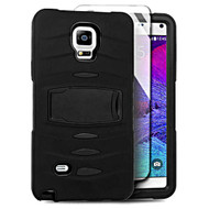 *SALE* Maximum Armor Hybrid Case with Integrated Screen Protector for Samsung Galaxy Note 4 - Black