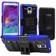 Advanced Armor Hybrid Kickstand Case with Holster for Samsung Galaxy Note 4 - Black Blue
