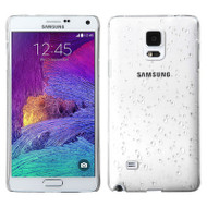 3D Water Drop Transparent Cover for Samsung Galaxy Note 4 - White