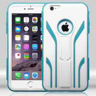 TUFF Extreme Hybrid Kickstand Case for iPhone 6 Plus / 6S Plus - White Teal