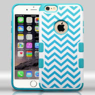 Military Grade Certified TUFF Merge Graphic Hybrid Case for iPhone 6 Plus / 6S Plus - Blue Wave