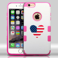 Military Grade Certified TUFF Merge Graphic Hybrid Case for iPhone 6 Plus / 6S Plus - Heart USA
