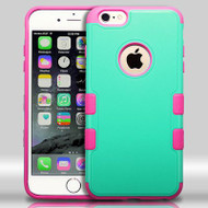 Military Grade Certified TUFF Merge Hybrid Case for iPhone 6 Plus / 6S Plus - Teal Hot Pink