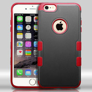 Military Grade Certified TUFF Merge Hybrid Case for iPhone 6 Plus / 6S Plus - Black Red