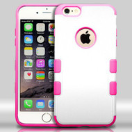 Military Grade Certified TUFF Merge Hybrid Case for iPhone 6 Plus / 6S Plus - White Hot Pink