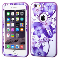 Verge Image Hybrid Case for iPhone 6 Plus / 6S Plus - Hibiscus Flower Romance Purple