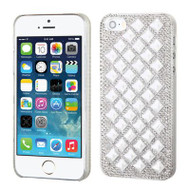 Desire Bling Bling Crystal Cover for iPhone SE / 5S / 5 - Diamond Silver