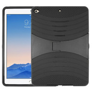 Shockproof Armor Kickstand Case for iPad Air 2 - Black