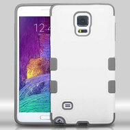 TUFF Merge Hybrid Case for Samsung Galaxy Note 4 - White Grey