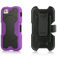 *SALE* Shel-Tek Series Anti-Shock Hybrid Case with Holster for iPhone SE / 5S / 5 - Purple