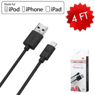 MFI Mybat Lightning Connector to USB Charging and Sync Cable - Black