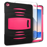 *SALE* Maximum Armor Hybrid Case with Integrated Screen Protector for iPad Air 2 - Black Hot Pink