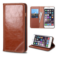 *SALE* Mybat Genuine Leather Wallet Case for iPhone 6 Plus / 6S Plus - Brown