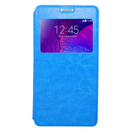 *SALE* Interactive Leather Folio Hybrid Case for Samsung Galaxy Note 4 - Blue