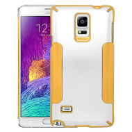 Aluminum Alloy Hybrid Armor Case for Samsung Galaxy Note 4 - Silver Gold