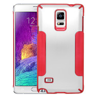 Aluminum Alloy Hybrid Armor Case for Samsung Galaxy Note 4 - Silver Red