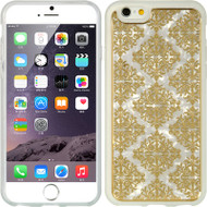 Graphic Rubberized Protective Gel Case for iPhone 6 - Lace Gold