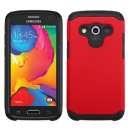 Hybrid Multi-Layer Armor Case for Samsung Galaxy Avant - Red