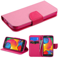 Diary Leather Wallet Case for Samsung Galaxy Avant - Pink
