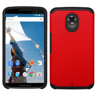 *Sale* Hybrid Multi-Layer Armor Case for Motorola Google Nexus 6 - Red