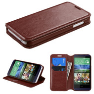 *Sale* Book-Style Leather Folio Case for HTC Desire 512 / 510 - Brown