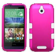*Sale* Military Grade TUFF Hybrid Case for HTC Desire 512 / 510 - Hot Pink White